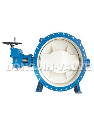 Resilient Seated Double-eccentric Flanged Butterfly Valve With Gear Operator
