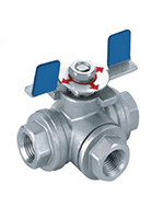 Stainless Steel 3-way Inside Screw Ball Valve